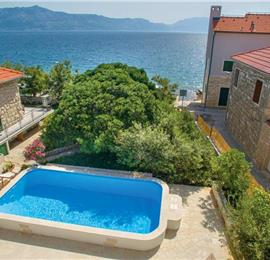 4 Bedroom Sea Front Villa with Pool in Postira, Brac Island, Sleeps 8