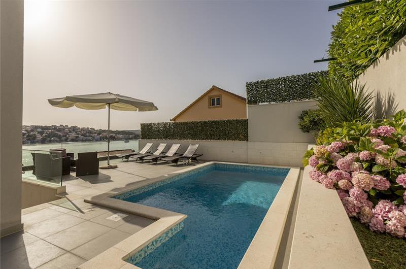 5 Bedroom Seaside Villa with Pool near Rogoznica, sleeps 10-12