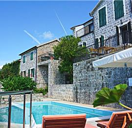 Studio Apartment with Shared Pool in Kotor Bay, Montenegro, Sleeps 2-3