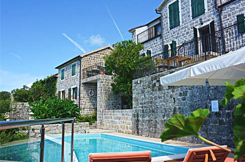 Selection of 1 Bedroom Apartments with Shared Pool in Kotor Bay, Montenegro, Sleeps 2-3