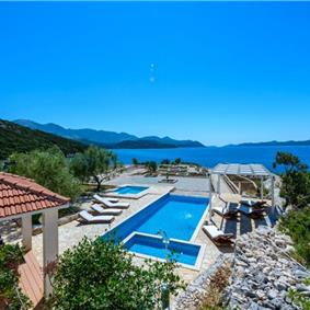 Luxury 5 Bedroom Beachfront Villa near Dubrovnik, Sleeps 11-12