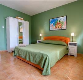 Two bedroom apartment located directly on Brela beach sleeps 4-5