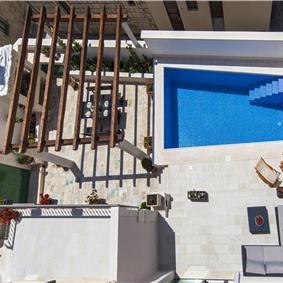 5 Bedroom Brac Island Villa with Pool in Seaside Village of Povlja, sleeps 10-12