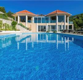 Luxury 7 Bedroom Villa with Pool in Stunning Bay near Vela Luka, Korcula - sleeps 14-17