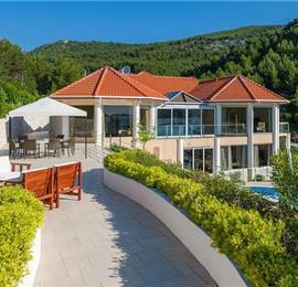 Luxury Villa with Large Pool in Stunning Bay near Vela Luka, Korcula - sleeps 14-17