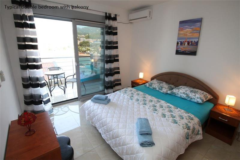 bedroom seaside apartments near budva sleeps 4 6 two apartments are
