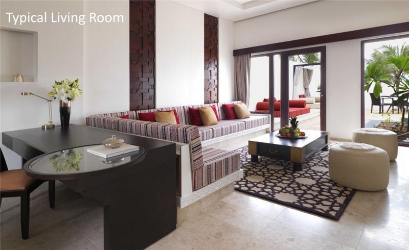 3 Bedroom Beachfront Villa with Pool in Salalah, sleeps 6-9