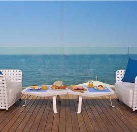 Luxury 4 Bedroom Beachfront Villa with Indoor Pool in Novigrad, sleeps 8-12