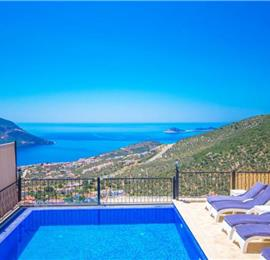 9 Bedroom Villa with Pool in Kalkan, Sleeps 15