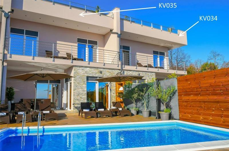 8 Bedroom Villa with 2 Pools and Sea Views near Opatija, sleeps 16
