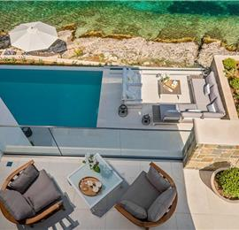 Luxury 4 Bedroom Beachfront Villa with Infinity Pool near Korcula Town, Korcula, sleeps 8