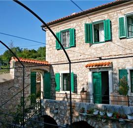 Three charming stone villas on one estate sleeping up to 14, near Crikvenica with views of Krk Island
