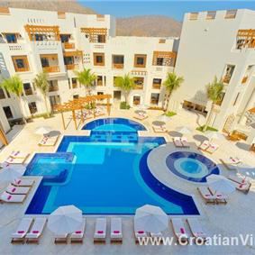 Oman, Jebel Sifah, 4* Boutique Hotel