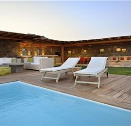 4 Bedroom Villa with Infinity Pool near Elia Beach on Mykonos, Sleeps 8