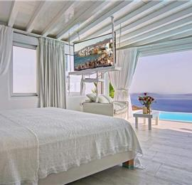 1 Bedroom Villa with Infinity Pool in Fanari on Mykonos, Sleeps 2