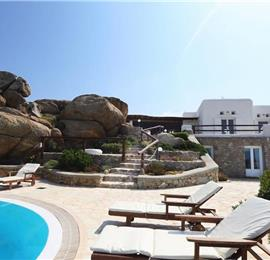 5 Bedroom Villa with Infinity Pool near Super Paradise Beach on Mykonos, Sleeps 10