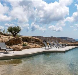 10 Bedroom Villa with Infinity Pool in Agrari on Mykonos, Sleeps 26