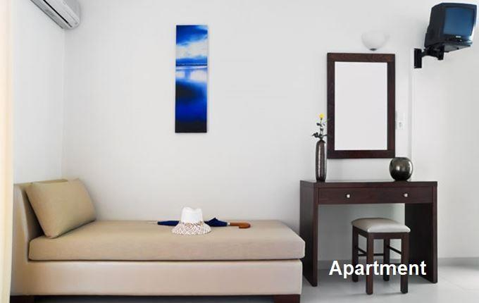 Selection of Apartments and Studios with Shared Pool and Sea Views near Rethymno on Crete, Sleeps 1-4