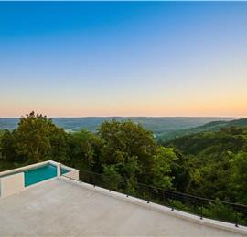 4-Bedroom Villa with Pool and Countryside Views near Oprtalj, Istria, Sleeps 8-10