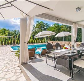 3 Bedroom Istrian Villa with Pool near Rabac, Sleeps 6